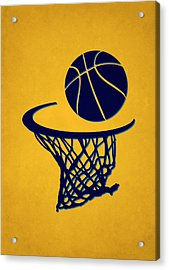 Nuggets Team Hoop2 Acrylic Print by Joe Hamilton