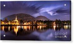 Nuit Orageuse Sur Mont Saint Hilaire Acrylic Print
