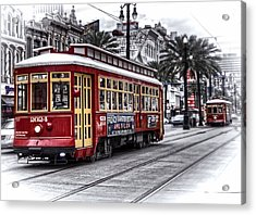 Acrylic Print featuring the photograph Number 2024 Trolley by Tammy Wetzel