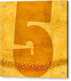 Number Five Flotation Device Acrylic Print