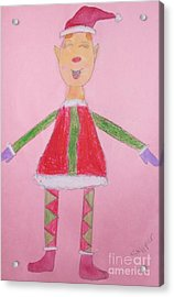 Number One Elf  Acrylic Print by PainterArtist FIN