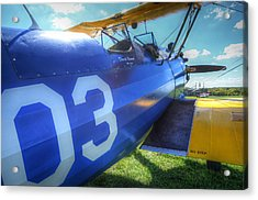 Number Three Acrylic Print by Michael Donahue