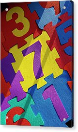 Numbered Tiles Acrylic Print