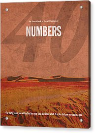 Numbers Books Of The Bible Series Old Testament Minimal Poster Art Number 4 Acrylic Print
