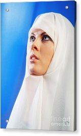 Nun Praying Acrylic Print by Aleksey Tugolukov
