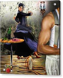 Nunca Hemos Bailado Una Cancion De Amor Acrylic Print by Reggie Duffie