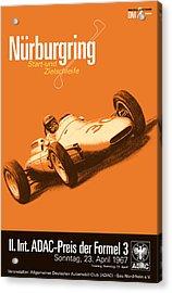 Nurburgring F3 Grand Prix 1967 Acrylic Print by Georgia Fowler