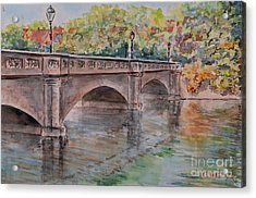 Acrylic Print featuring the painting Nuremberg Maxbruecke by Alfred Motzer