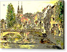 Nuremberg View To St.laurence Church Acrylic Print by Almo M