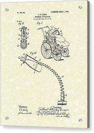 Nursing Aid 1904 Patent Art Acrylic Print