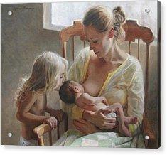 Nurturer Acrylic Print by Anna Rose Bain