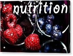 Nutrition Acrylic Print