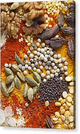 Nuts Pulses And Spices Acrylic Print