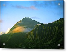 Nuuanu Pali At Sunrise Acrylic Print by Kevin Smith