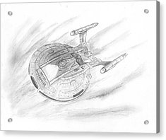 Nx-01 Enterprise Acrylic Print by Michael Penny