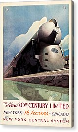Ny Central System Acrylic Print by Allen Beilschmidt