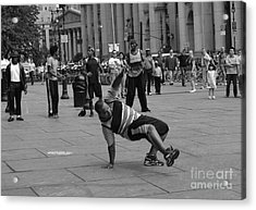 Acrylic Print featuring the photograph Ny City Street Performer by Angela DeFrias