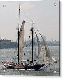 Ny Harbor Schooner Acrylic Print