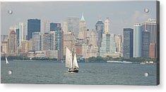 Ny City Skyline Acrylic Print