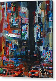 Ny Time Square Night 2 Acrylic Print