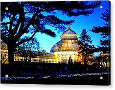 Acrylic Print featuring the photograph Nybg Winter Scene by Aurelio Zucco