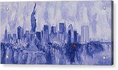NYC Acrylic Print by Bayo Iribhogbe