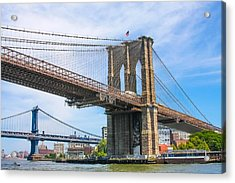 Nyc Bridges To Brooklyn Acrylic Print