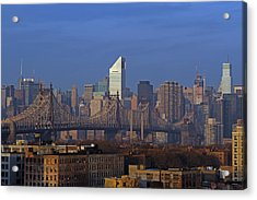 Nyc Citicorp Center And Queensboro Bridge Acrylic Print by Juergen Roth
