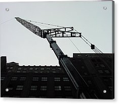 Nyc Construction Crane  Acrylic Print