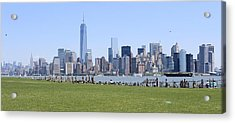 Island View Of Manhattan Acrylic Print by Suzanne Perry