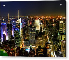 Nyc - From The Empire State Building 001 Acrylic Print by Lance Vaughn