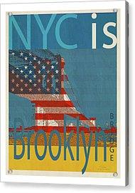 Nyc Is Brooklyn Bridge Acrylic Print by Joost Hogervorst