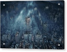 Nyc Acrylic Print by Leif L?ndal