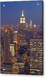 Nyc Midtown And Downtown Acrylic Print by Juergen Roth