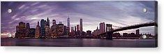 Nyc Panorama Acrylic Print by Nina Papiorek