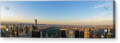 Nyc Panorama Acrylic Print by Rima Biswas