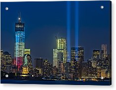 Nyc Remembers September 11 Acrylic Print by Susan Candelario