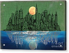Nyc Skyline Acrylic Print by Celestial Images