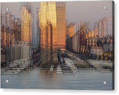 Nyc Skyline Shapes Acrylic Print