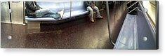 Nyc Subway At Night Acrylic Print