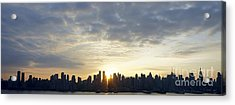 Nyc Sunrise Panorama Acrylic Print