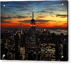 Nyc Sunset Acrylic Print