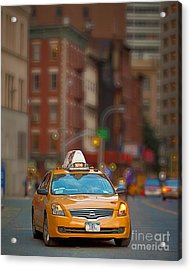 Acrylic Print featuring the digital art Taxi by Jerry Fornarotto