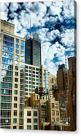 Nyc Urban Hdr Acrylic Print by Amy Cicconi