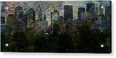 Nyc With Trees Acrylic Print by Bruce Rolff