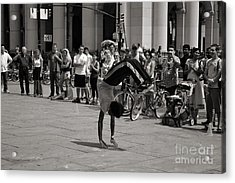 Acrylic Print featuring the photograph Nycity Street Performer by Angela DeFrias