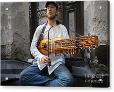 Nyckelharpa Player Of Estonia Acrylic Print