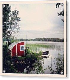 #nydala #nydalasjön #rödstuga #sjö Acrylic Print