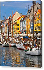 Nyhavn Sailboats Acrylic Print by Dennis Cox WorldViews