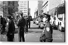 Nypd 1990s Acrylic Print by John Rizzuto